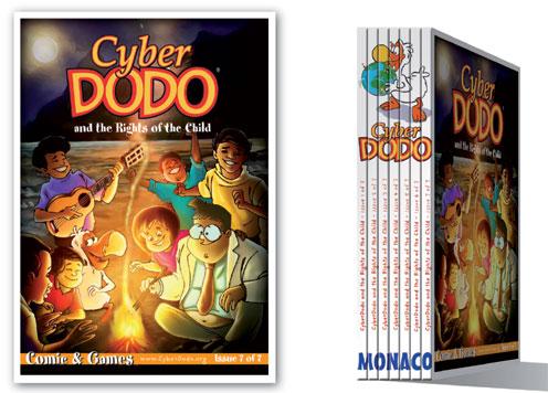 """Álbum 7 del Edupack """"CyberDodo y los derechos del niño"""", acompañado del mensaje de SAS Príncipe Albert de Mónaco"""