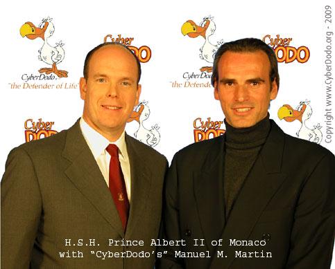 SAS le Prince Albert II de Monaco avec Manuel M. Martin