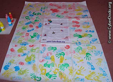 One of the works of art done by the children who signed the International Convention on the Rights of the Child
