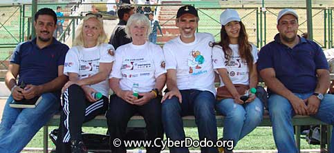 The AFDP team and Manuel M. Martin, co-founder of the global initiative CyberDodo the Defender of Life