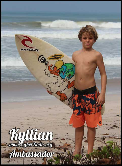 Kyllian Guerin, a super-talented surfer born in 2003, is a CyberDodo Ambassador