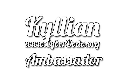 CyberDodo, the Defender of Life, and his whole team are proud and pleased to welcome Kyllian to help spread our message of respect and conservation.
