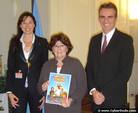 Louise Arbour, UN High Commissioner for Human Rights, Alice Martin, Author of the CyberDodo Edupack and Manuel M. Martin, Creator of CyberDodo